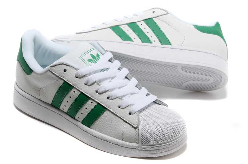 adidas superstar blanc vert