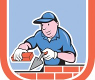 Bricklayer Mason Plasterer Worker Cartoon